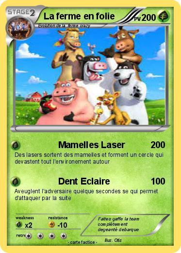 Coloriage La Ferme En Folie.Pokemon La Ferme En Folie 1 1 Mamelles Laser Ma Carte Pokemon