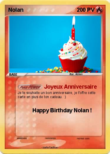 Pokemon Nolan 140 140 Joyeux Anniversaire Ma Carte Pokemon