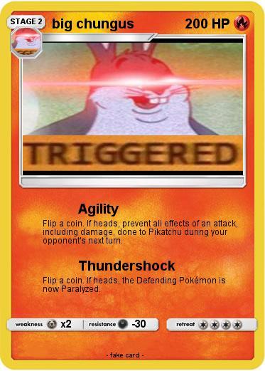 Pokemon Big Chungus 539 539 Agility My Pokemon Card