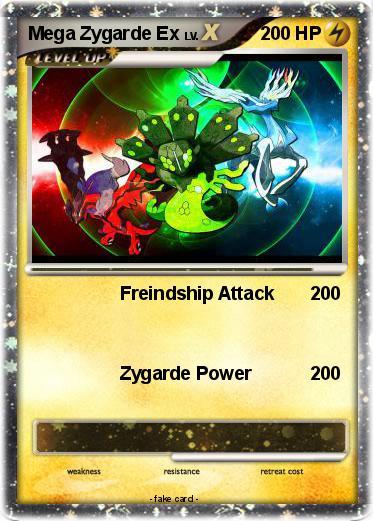 Pok 233 Mon Mega Zygarde Ex 3 3 Freindship Attack My