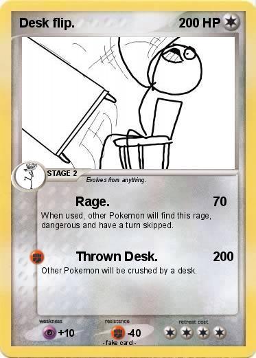 Pokemon Desk Flip