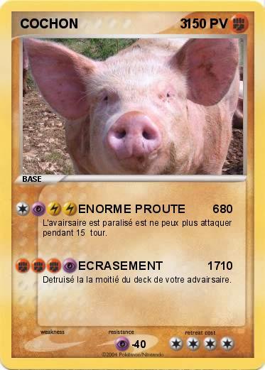 Pok mon cochon 3 1 1 enorme proute 6 ma carte pok mon - Cochon pokemon ...