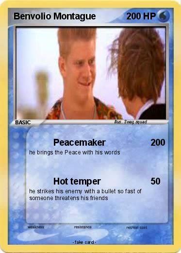 was benvolio known as a peacemaker