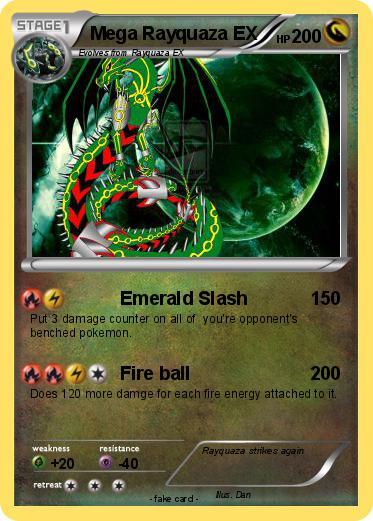 Pokémon Mega Rayquaza EX 27 27 - Emerald Slash - My ...