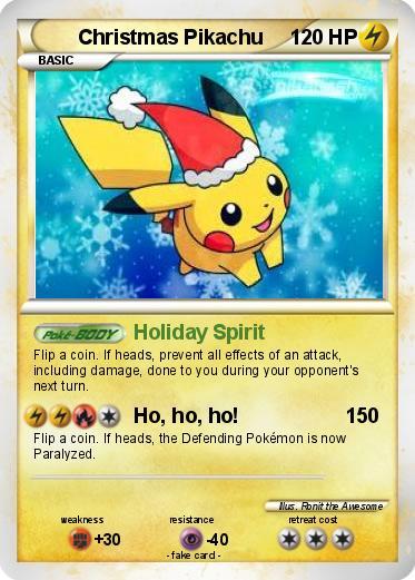 Pok 233 Mon Christmas Pikachu 8 8 Holiday Spirit My
