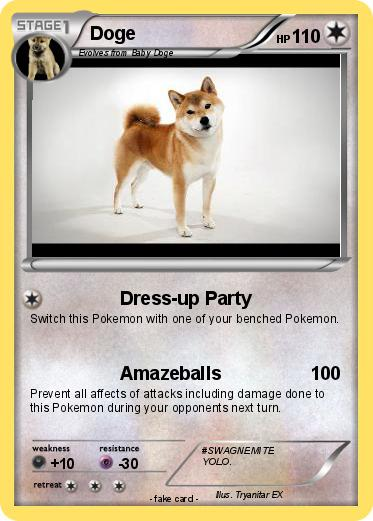 Pokémon Doge 1789 1789 - Dress-up Party - My Pokemon Card on