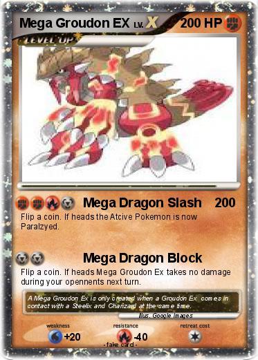 Pok 233 Mon Mega Groudon Ex 2 2 Mega Dragon Slash My