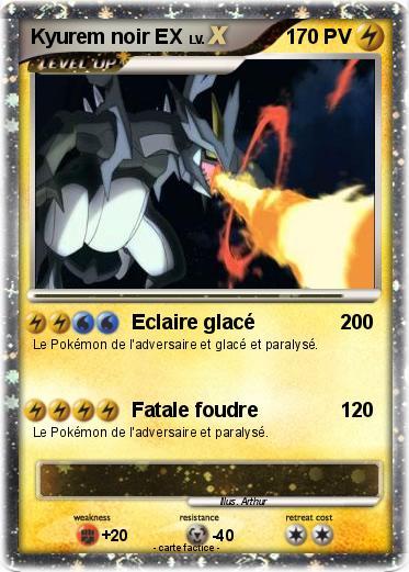 Pok mon kyurem noir ex 11 11 eclaire glac ma carte - Pokemon kyurem noir ...