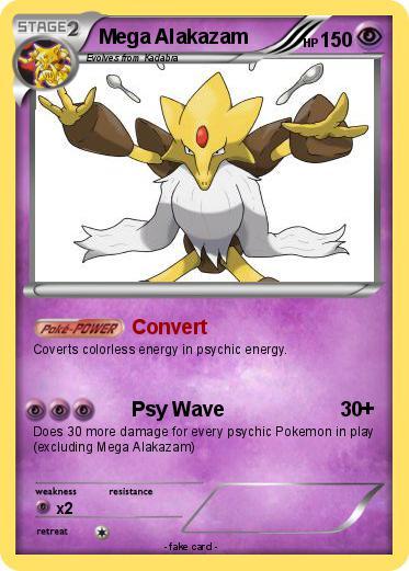 pokémon mega alakazam 12 12 convert my pokemon card