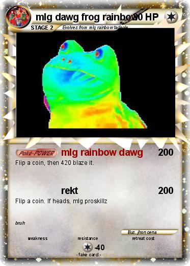 Pokémon mlg dawg frog rainbow - mlg rainbow dawg - My ...