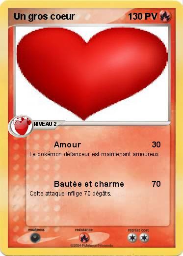 Pok mon un gros coeur amour ma carte pok mon - Un gros coeur d amour ...