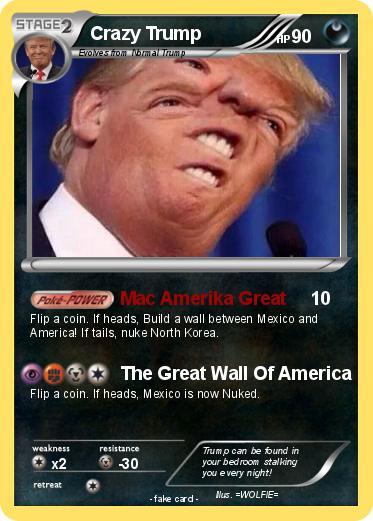 Pok 233 Mon Crazy Trump Mac Amerika Great My Pokemon Card