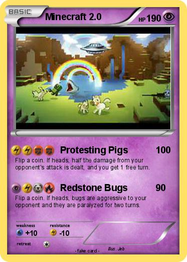 Pokemon Minecraft 2 2 2 Protesting Pigs My Pokemon Card