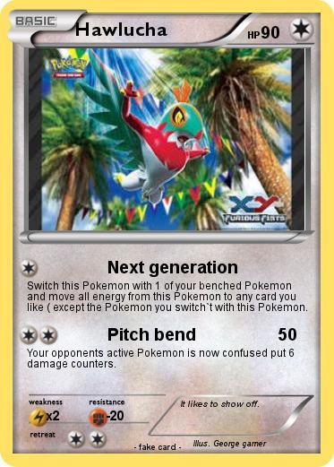 Pokémon Hawlucha 95 95 Next Generation My Pokemon Card