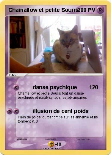 Pok mon chamallow et petite souris danse psychique 120 - Petite souris qui danse ...