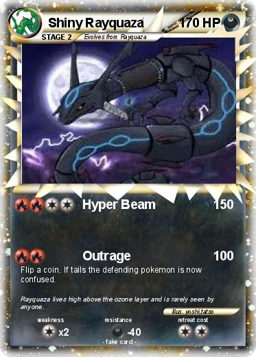 Pokémon Shiny Rayquaza 55 55 - Hyper Beam - My Pokemon Card