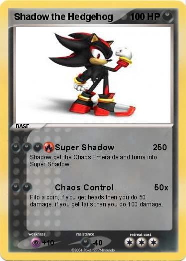 Pokémon Shadow the Hedgehog 87 87 - Super Shadow 250 - My Pokemon Card