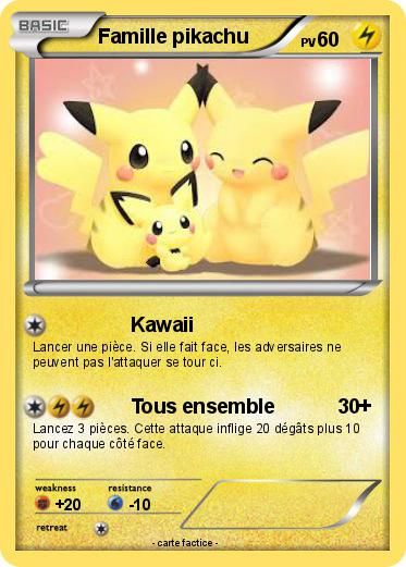 Pok mon famille pikachu 21 21 kawaii ma carte pok mon - Pokemon famille pikachu ...