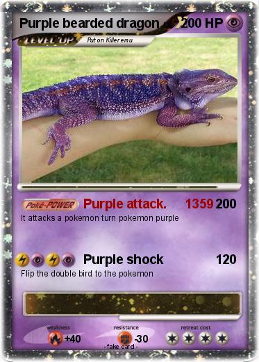 pokémon purple bearded dragon purple attack 1359 my pokemon card