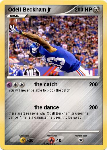 Pokemon Odell Beckham Jr 3 3 The Catch My Pokemon Card