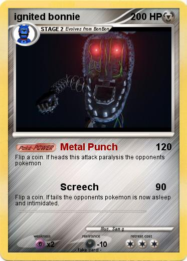 Pok 233 Mon Ignited Bonnie 7 7 Metal Punch My Pokemon Card