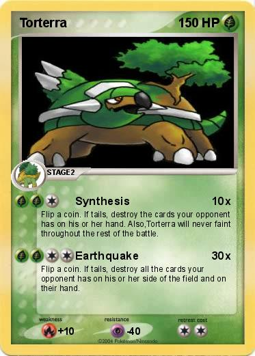 Pokémon Torterra 265 265 - Synthesis - My Pokemon Card