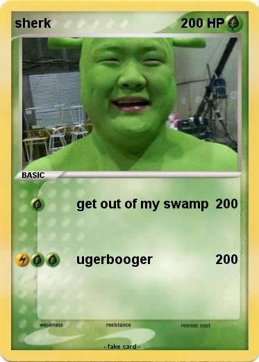 pokémon sherk 21 21 get out of my swamp my pokemon card
