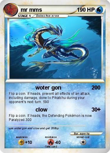 Pokémon mr mms - woter gon - My Pokemon Card