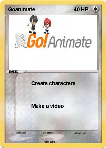 Pokémon Goanimate 9 9 Create Characters My Pokemon Card