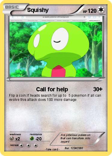Pokemon Squishy 73 73 - Call for help - My Pokemon Card