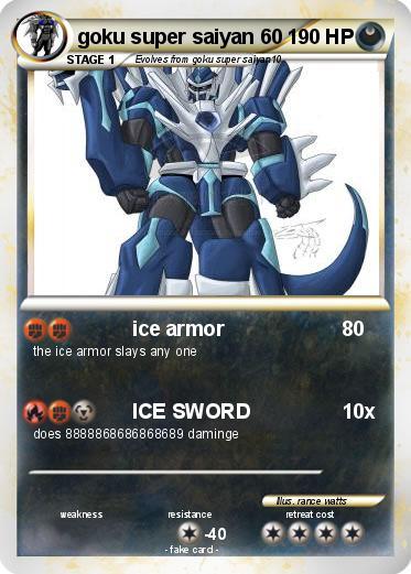 Pokémon goku super saiyan 60 60 - ice armor - My Pokemon Card