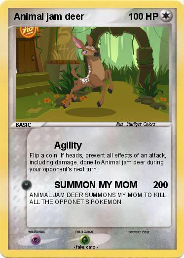 Image of: Drawing Pokemon Animal Jam Deer My Pokemon Card Pokémon Animal Jam Deer Agility My Pokemon Card