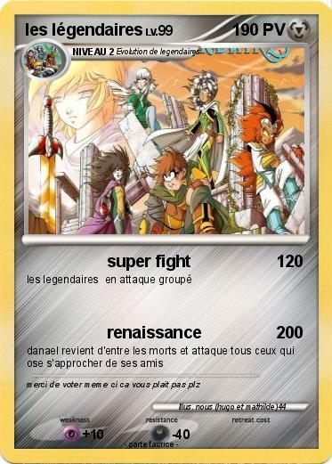 Pok mon les legendaires 67 67 super fight ma carte pok mon - Pokemone legendaire ...