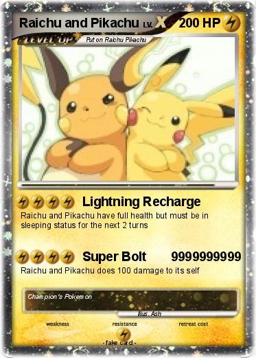 Pok 233 Mon Raichu And Pikachu 1 1 Lightning Recharge My