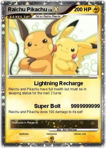 Pok 233 Mon Raichu Pikachu Lightning Recharge My Pokemon Card