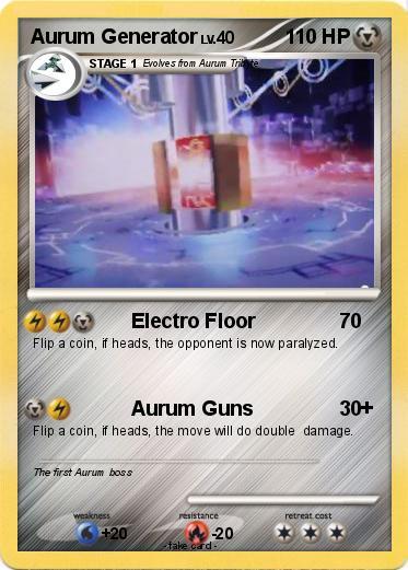 Pokémon Aurum Generator - Electro Floor - My Pokemon Card