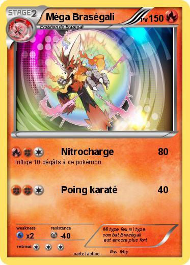 Pok mon mega brasegali 44 44 nitrocharge ma carte pok mon - Coloriage pokemon brasegali ...