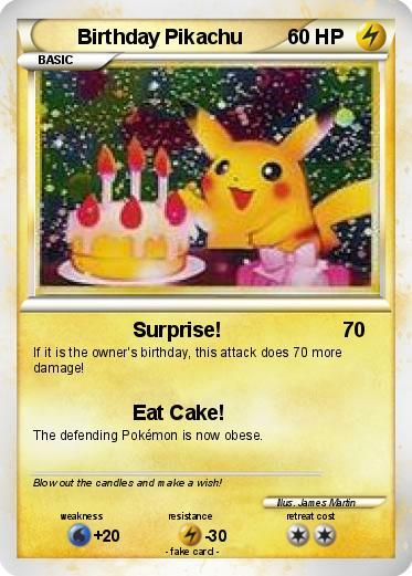 Pokmon Birthday Pikachu 4 4 Surprise My Pokemon Card