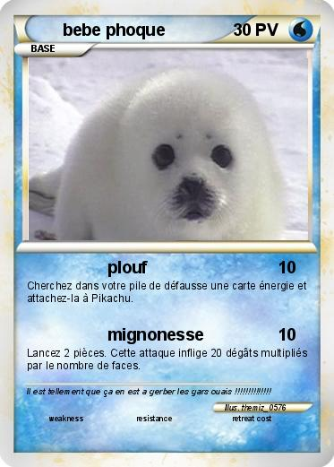 Baby Phoque pokémon bebe phoque 1 1 - plouf - ma carte pokémon