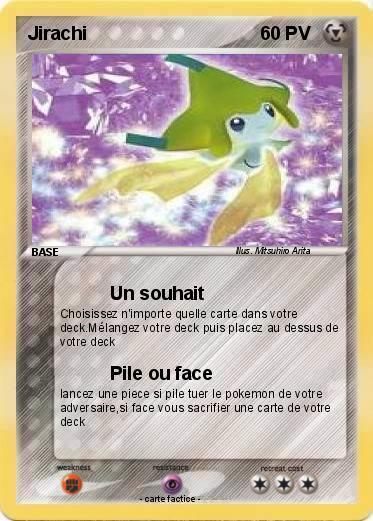 Pok mon jirachi 409 409 un souhait ma carte pok mon - Carte pokemon jirachi ...