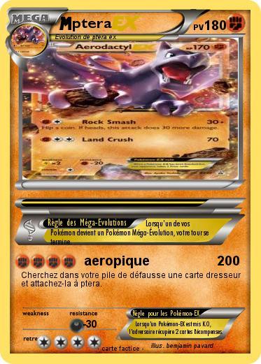 Pok mon ptera 82 82 aeropique ma carte pok mon - Pokemon ptera ...