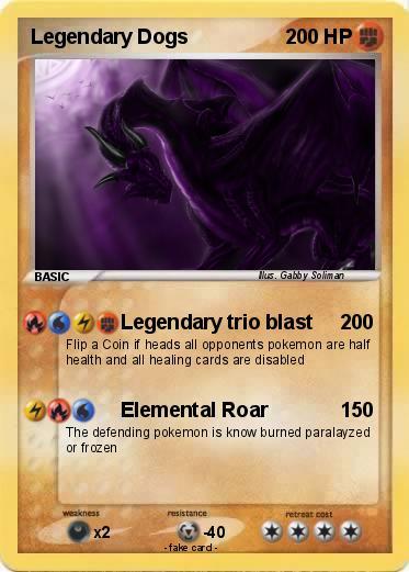 Pokmon Legendary Dogs 23 23 Legendary trio blast My Pokemon Card