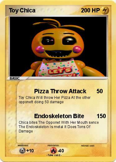 Pok 233 Mon Toy Chica 23 23 Pizza Throw Attack My Pokemon Card