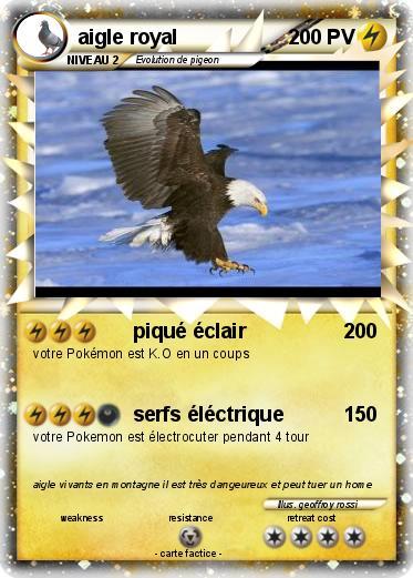 Pok mon aigle royal 31 31 piqu clair ma carte pok mon - Dessin d aigle royal ...