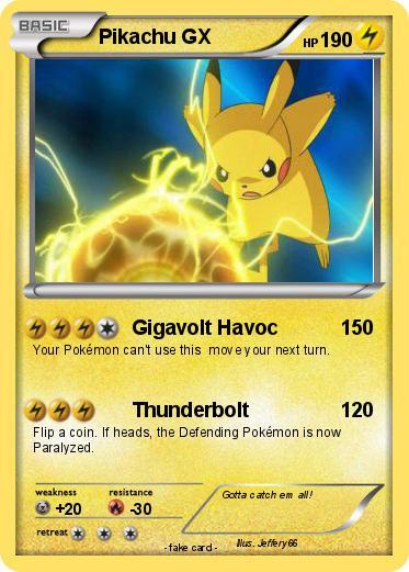 Pokémon Pikachu Gx 3 3 Gigavolt Havoc My Pokemon Card
