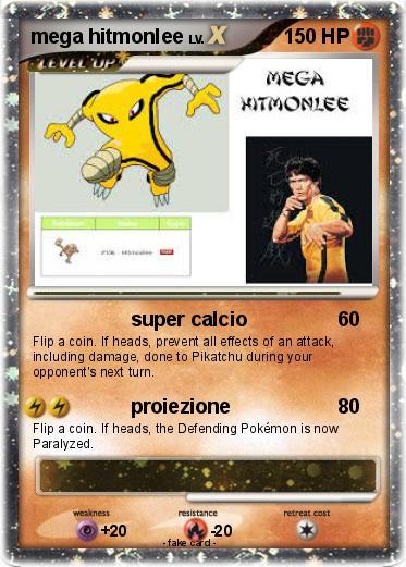 Pokémon mega hitmonlee - super calcio - My Pokemon Card