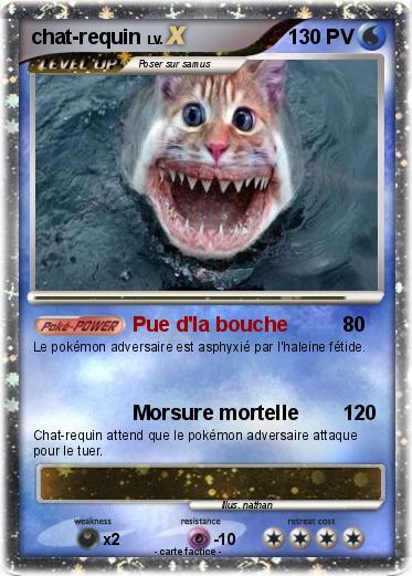 Pok mon chat requin 3 3 pue d 39 la bouche ma carte pok mon - Pokemon baleine ...