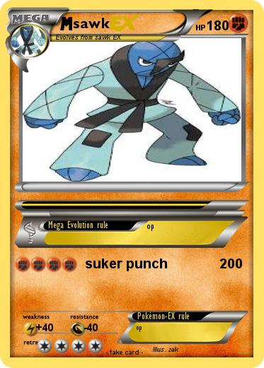 Pokémon Sawk 135 135 Suker Punch My Pokemon Card