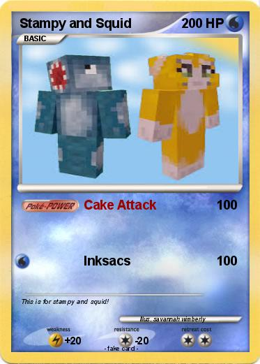 Pokémon Stampy and Squid - Cake Attack - My Pokemon Card