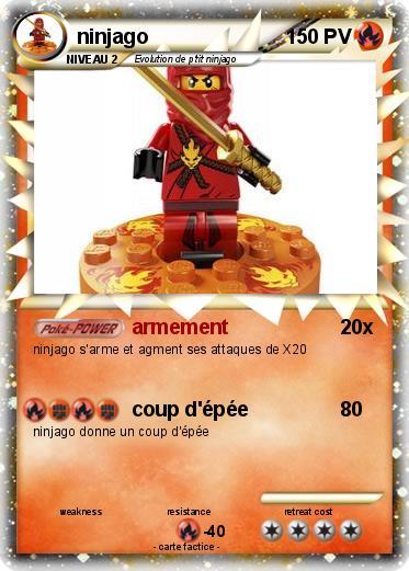Pok mon ninjago 6 6 armement ma carte pok mon - Carte ninjago ...